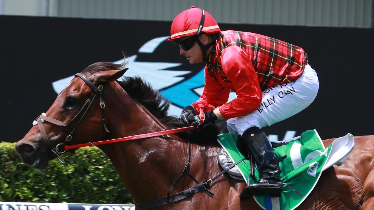 Billy Cray rides Babylon for trainer Garry Lunn. Picture: Grant Guy