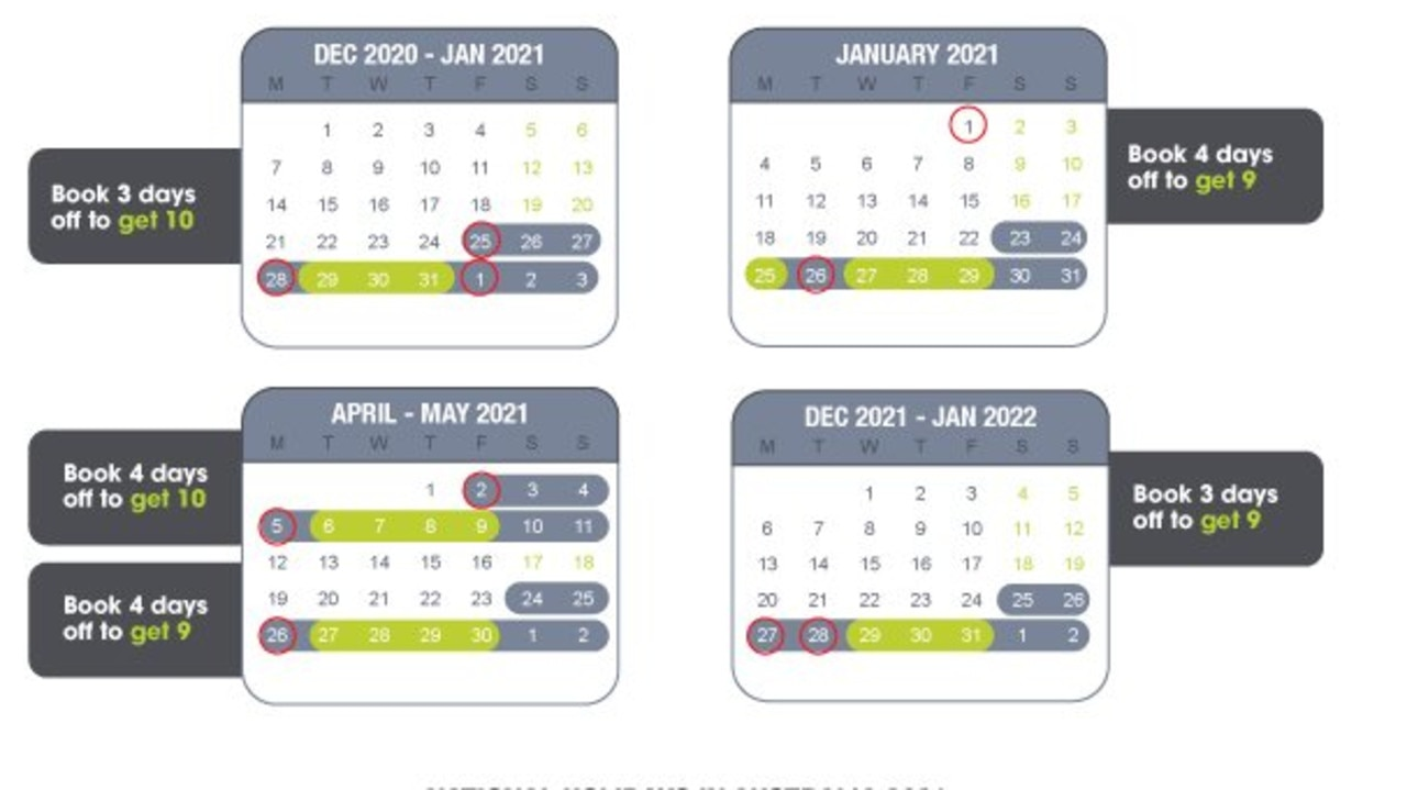 Double your annual leave in 2021 with a simple holiday hack. Picture: Instant Group