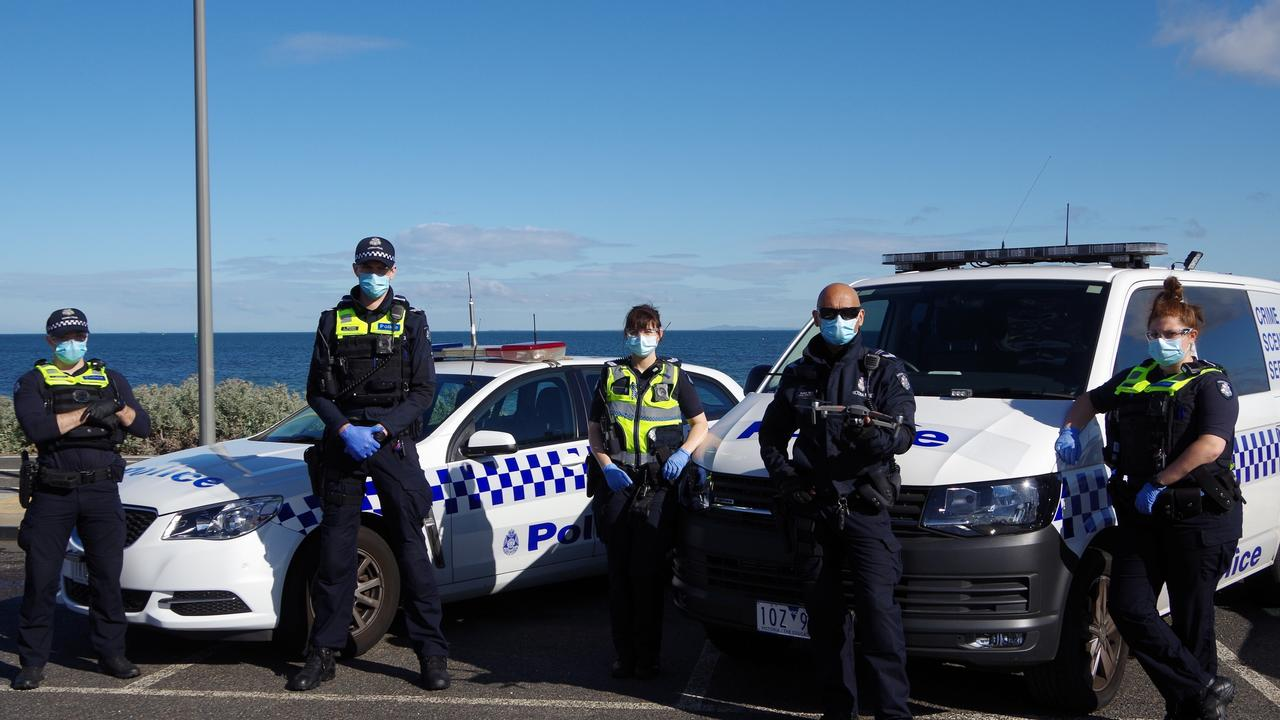 Victoria Police's drone unit will be out in force this weekend. Picture: Cheney Dodson