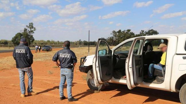 Police arrest a Colt family member in South Australia earlier this month. Picture: NSW Police