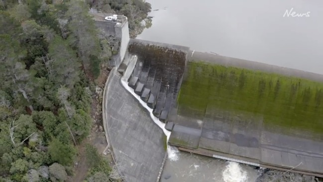 Trevallyn Dam's new eel bypass in operation