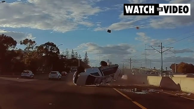 Drivers miraculously unharmed in horror Perth freeway double ute rollover