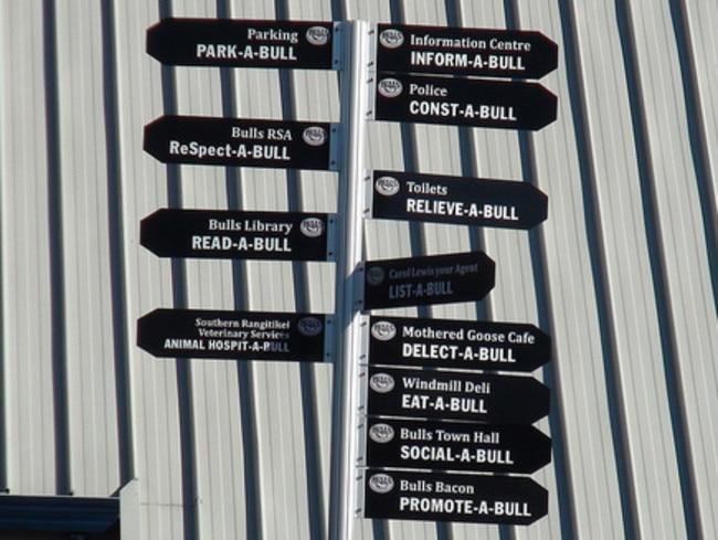The NZ town full of bull puns
