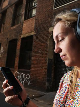 12/02/16: Charlotte Swinburn is a 24-year-old music fan from Sydney who like many of her generation prefers to listen to and stream random tracks rather than albums, signalling the end of the album as a cultural phenomenon. John Feder/TheAustralian