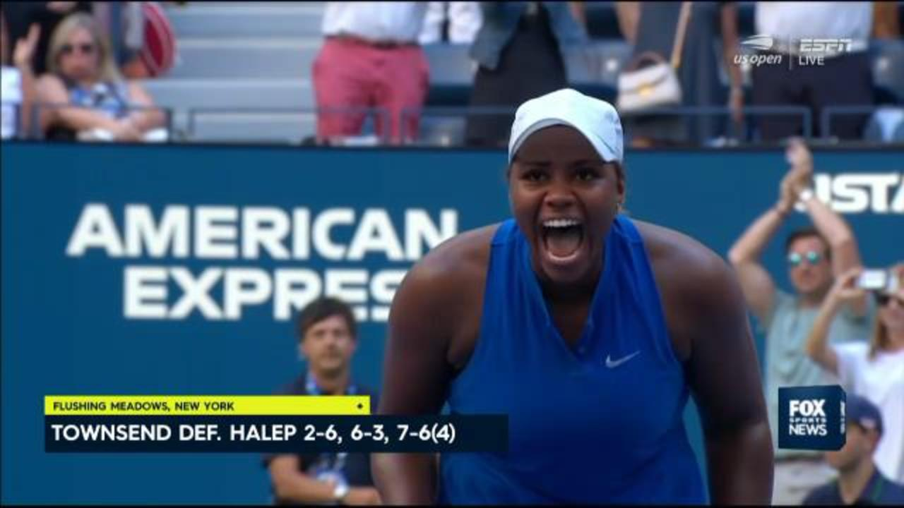 Halep stunned by Townsend