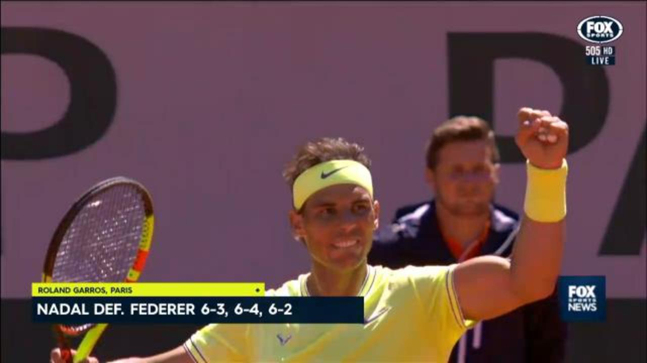 Nadal crushes Federer in semi