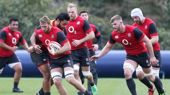 England players trained to the sound of hymns being blasted out over loud speakers.
