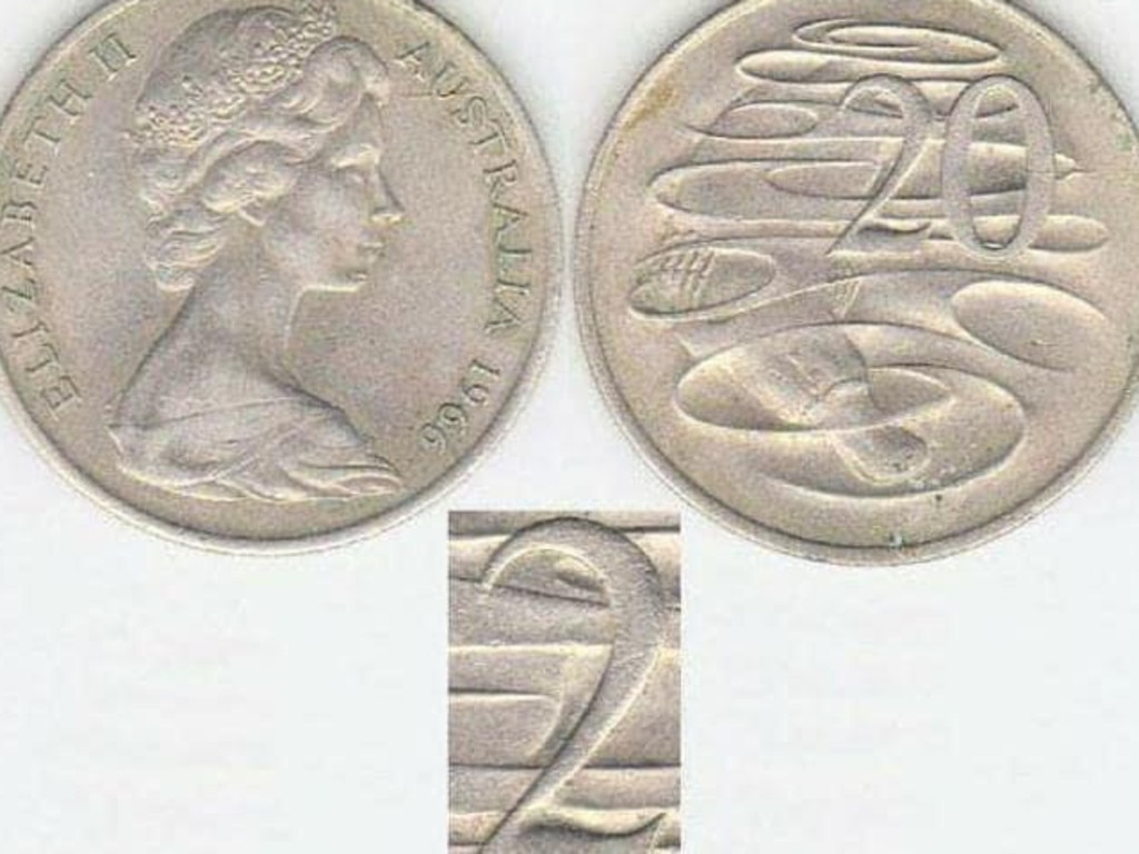 This fancy little wave in the '2' is rare and makes the coin worth about $2000. Picture: Facebook