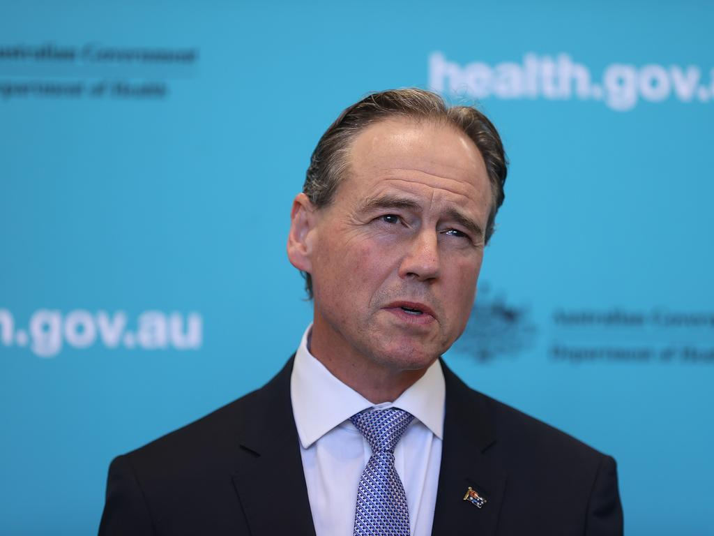 Health Minister Greg Hunt said last week 36,000 vaccines had been administered throughout Australia. Picture: NCA NewsWire / Gary Ramage