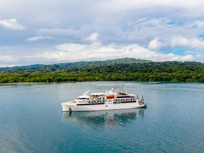 "RIGHT FOR REMOTE REGIONS  Coral Expeditions' newest addition Coral Adventurer, which lodges 120 guests in 60 spacious staterooms, was launched in April to carry adventurous sightseers on off-the-beaten-track journeys around the Kimberley coast, Indonesian archipelago, and Papua New Guinea. The expedition-style vessel can reach remote regions out of bounds to larger craft, with tenders described as ""open safari boats'' getting guests into locations lacking port facilities, and after wrapping her rookie Kimberley season in September will navigate the big and small islands to our near north."