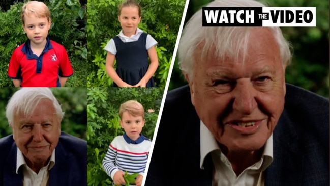 Royal children interview David Attenborough