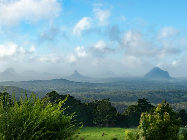 BEST DAY TRIP FOR NATURE LOVERS FROM BRISBANE: GLASSHOUSE MOUNTAINS Keen for a slice of nature that doesn't include your local park or your backyard? Depending on where you live in Brisbane, you might be able to squeeze in a trip to the breathtaking Glass House Mountains. If you follow the Bruce Highway north, take the Glass House Mountains tourist drive turn-off and follow the signs to the Glass House Mountains, you'll soon find yourself surrounded by mountain peaks and walking tracks. See more: 11 ways to take it easy on the Sunshine Coast    See more: 14 things no one told you about Queensland    See more: The surprise reason travellers love Brisbane    See more: A city oasis in the heart of Brisbane