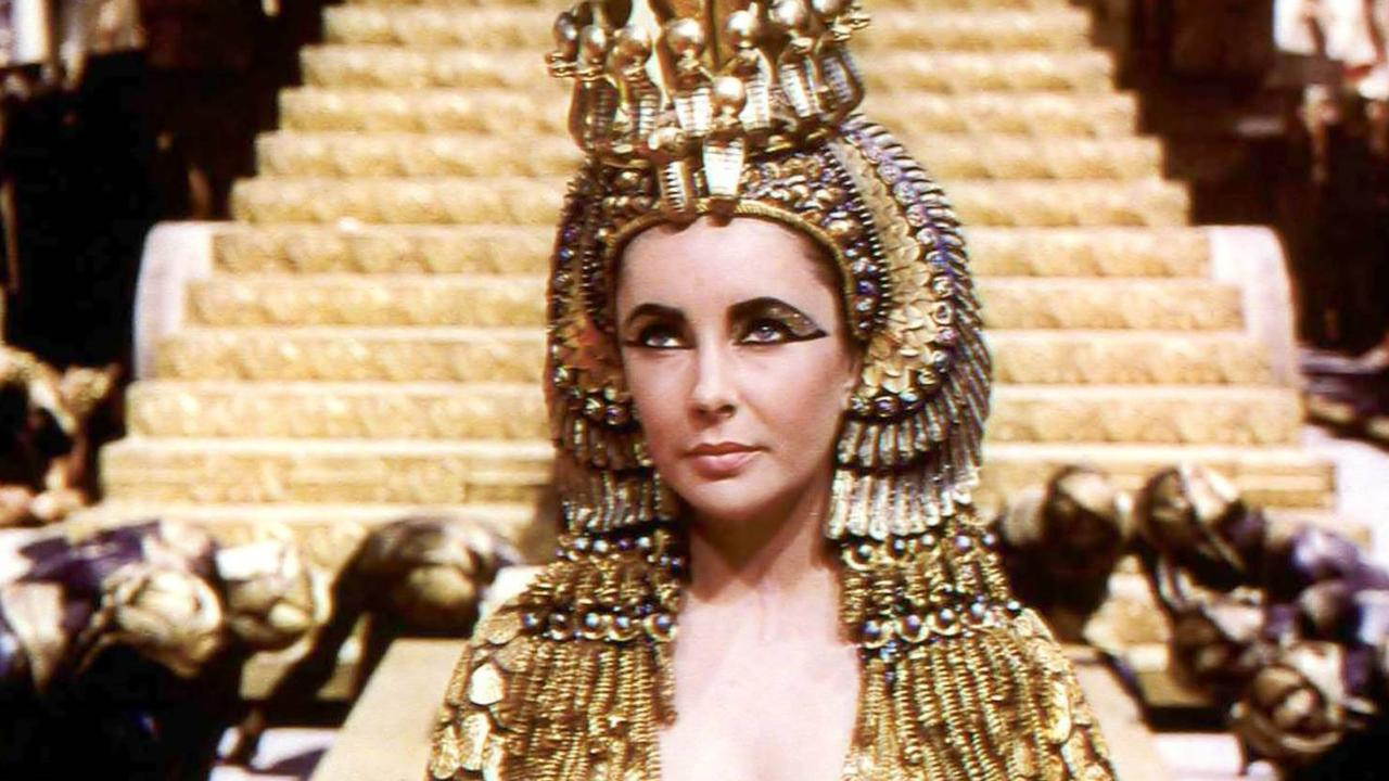 Actor Elizabeth Taylor as Cleopatra in the 1963 film called Cleopatra