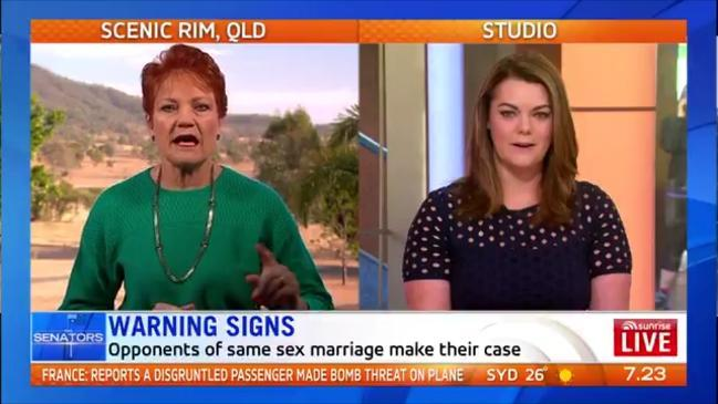 Hanson says SSM postal vote isn't valid