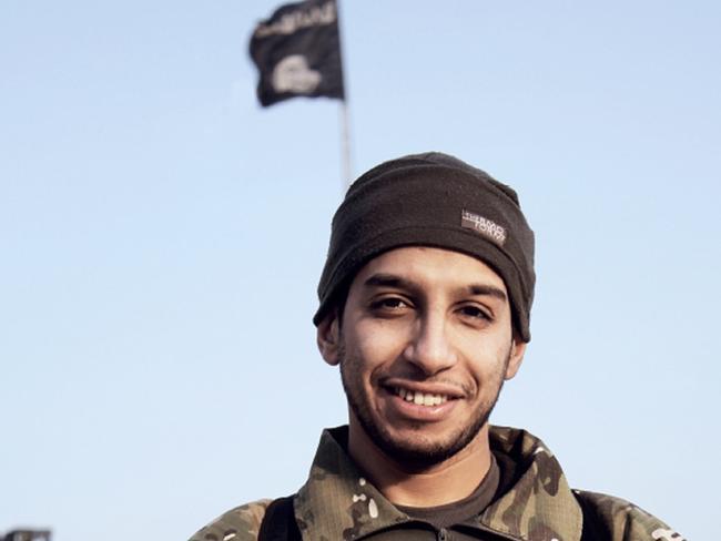Jihadist ... Abdel Hamid Abaaoud, aka Abu Umar al-Baljiki, from issue 7 of the Isis magazine Dabiq, published in February 2015. Picture: Dabiq