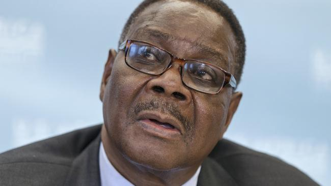 Malawi's President Peter Mutharika has visited vampire affected areas. Picture: AP Photo/J. Scott Applewhite.