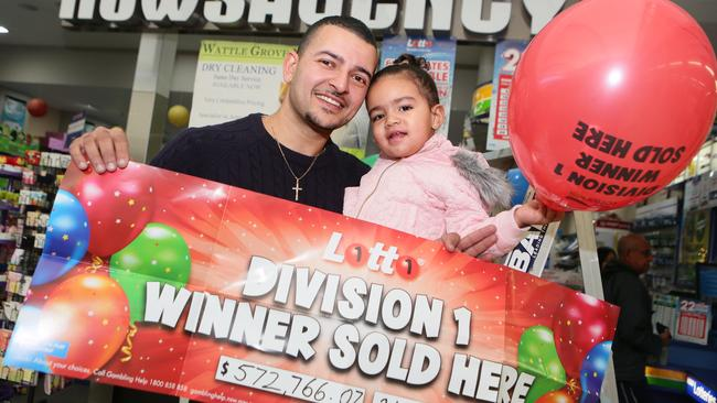 Wattle Grove Newsagency sold a division one winning ticket back in May 2016. Picture: Ian Svegovic
