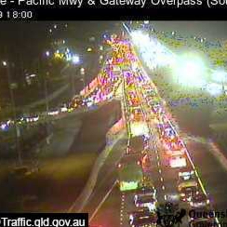 Pacfic Mwy and Gateway Overpass at Rochedale. Picture: QLD Traffic.