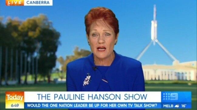 Pauline Hanson weighs in on Julie Bishop talk show (Today Show)