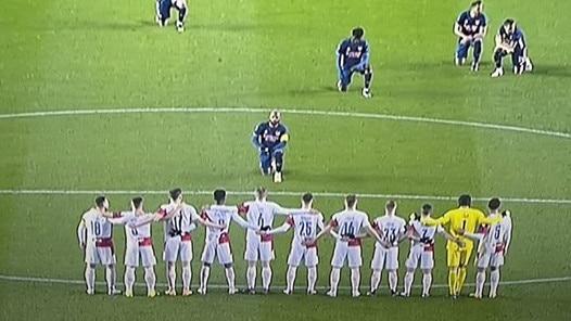 Alex Laczette stares down Slavia prague