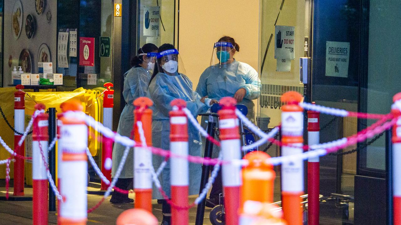 Outbreaks have been triggered by leaks from hotel quarantine. Picture: Aaron Francis/The Australian