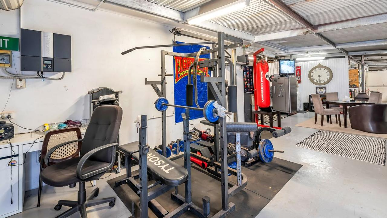 The gym would have been given a pretty serious workout. Source: Realestate.com.au