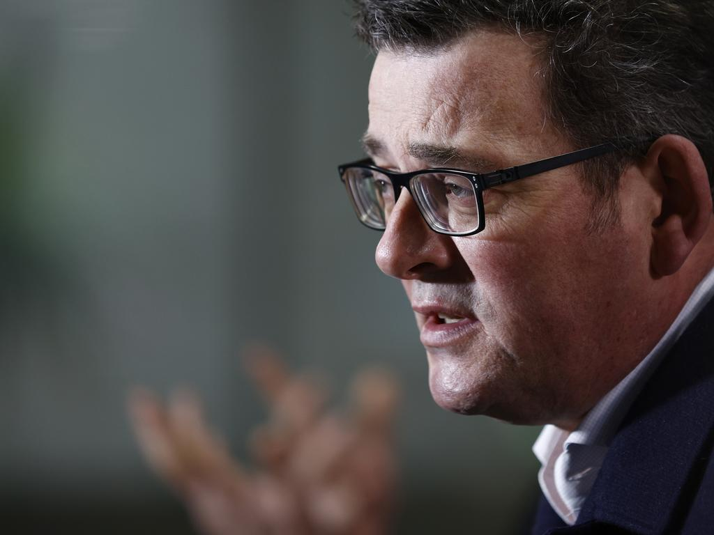 Victorian Premier Daniel Andrews has announced a staggered end to Victoria's lockdown. Picture: NCA NewsWire / Daniel Pockett