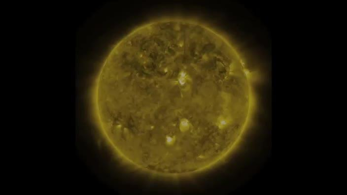 Three years of the sun in three minutes