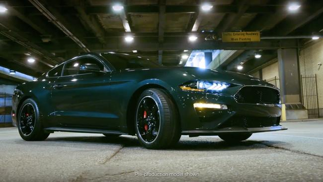 The Bullitt Mustang is heading to Australia but Ford won't say yet how many are coming or how much it will cost. Picture: Supplied.