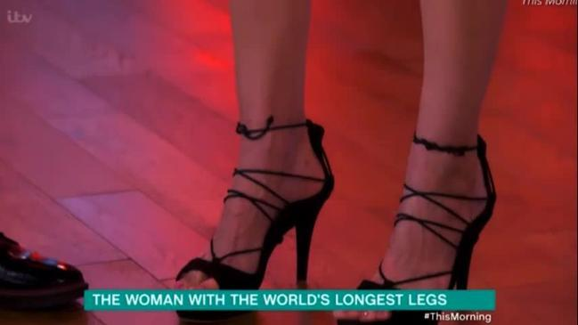 Russian model with the world's longest legs