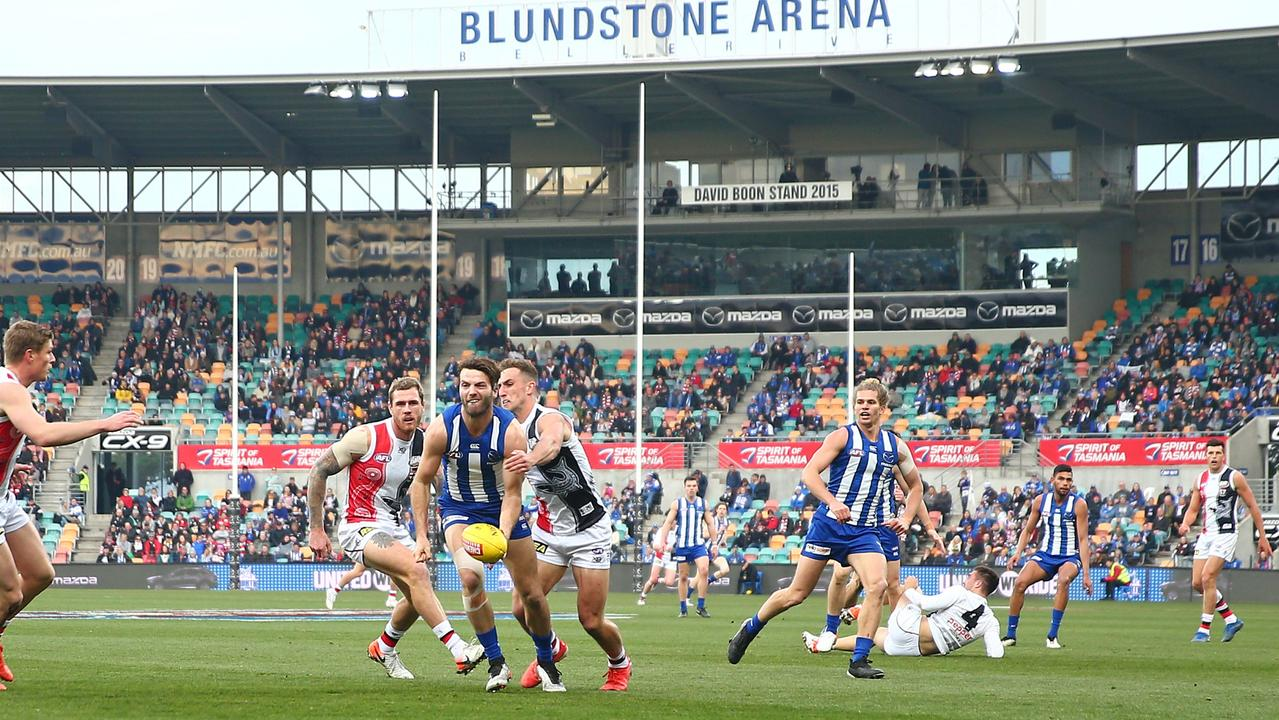 North Melbourne will play Melbourne in Hobart.