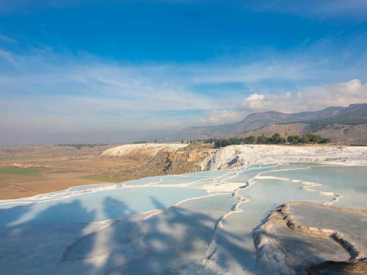 Travertine pool in  Pamukkale