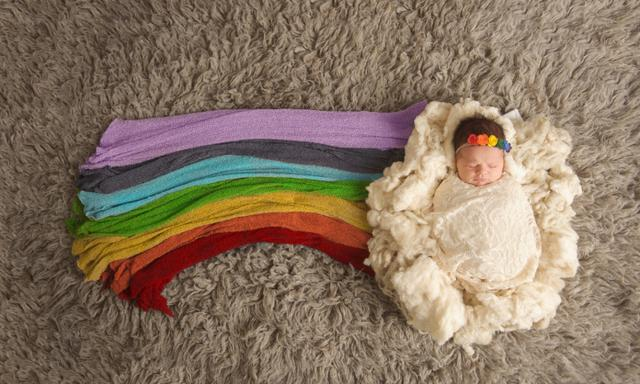 A rainbow baby is a baby born after a loss. A rainbow follows a storm and it gives hope that things get better. It is such a beautiful way to celebrate the life of the one lost.