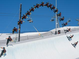 South Coast 16-year-old Valentino Guseli has set the world record for the highest jump from a half pipe during an event in Switzerland, Picture:  Mathias Wittwer/LAAX