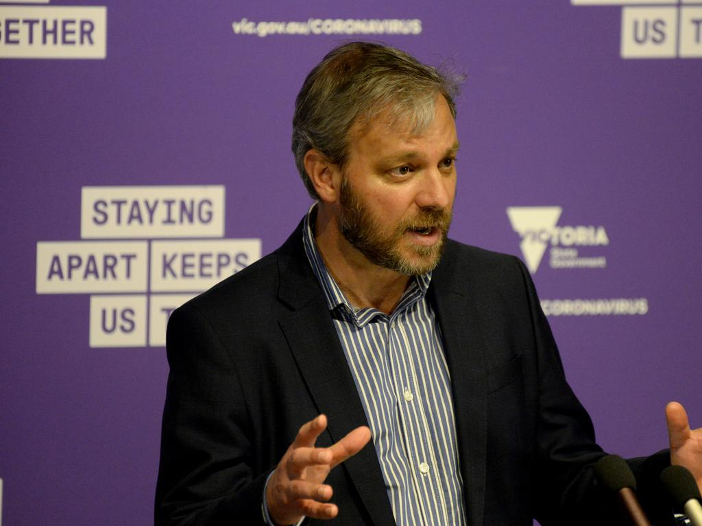 Victoria's Chief Health Officer Brett Sutton gives his latest COVID-19 update. Picture: Andrew Henshaw/NCA NewsWire