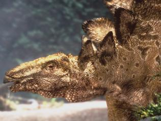 "1999 : Stegosaurus dinosaur featured in 1999 ABC fantasy TV documentary ""Walking With Dinosaurs"". Pic BBC. Animal / Extinct"