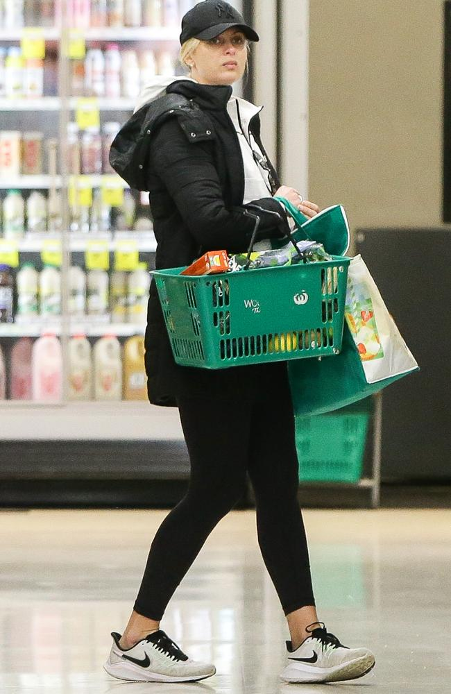 Sylvia Jeffreys makes a dash to the posh Woolworths while pregnant.