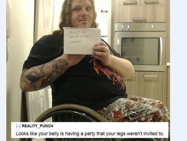 REALITY—PUNCH wrote; 'Looks like your belly is having a party that your legs weren't invited to.' Picture: Reddit