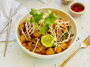 Bodhi Restaurant's famous vegan pad thai. Image: Supplied