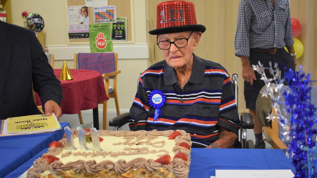 Australia's oldest person Dexter Kruger sets a new record at 111 years and 124 days.