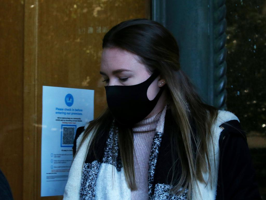 Monica Young arrives at Downing Centre Local Court on Wednesday. Picture: NCA NewsWire/Nikki Short.