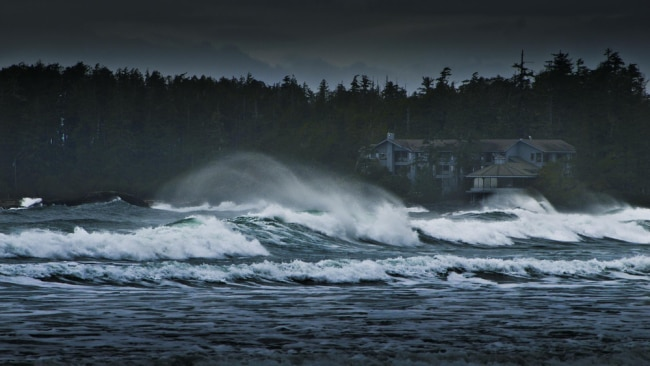 Vancouver Island is a great place to experience moody skies and big seas in winter. Picture: Wickaninnish Inn.