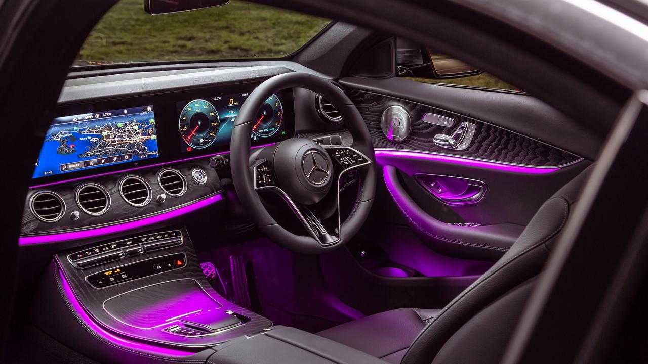 The cabin is immaculate with a mass of high quality materials and tech features.