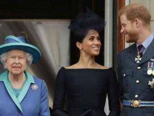 The Queen has approved of Meghan and Harry giving up royal duties. Image: Getty.