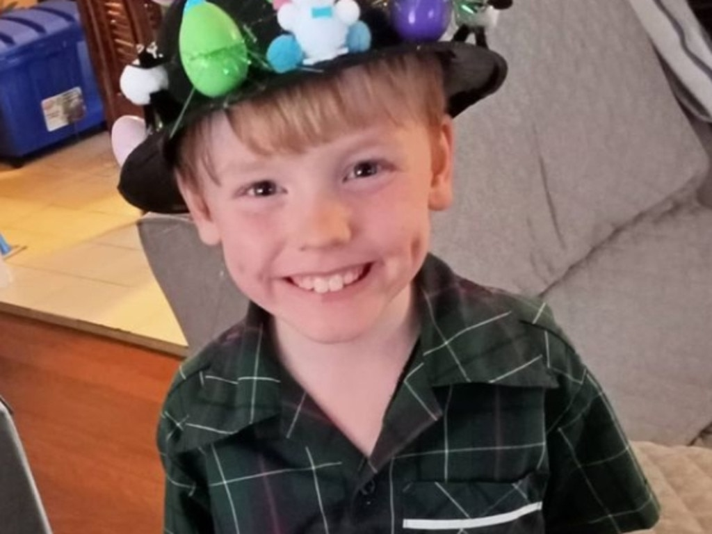 The family claim Deklan was critically injured after playing with a toy purchased from Sea World. Picture: Supplied