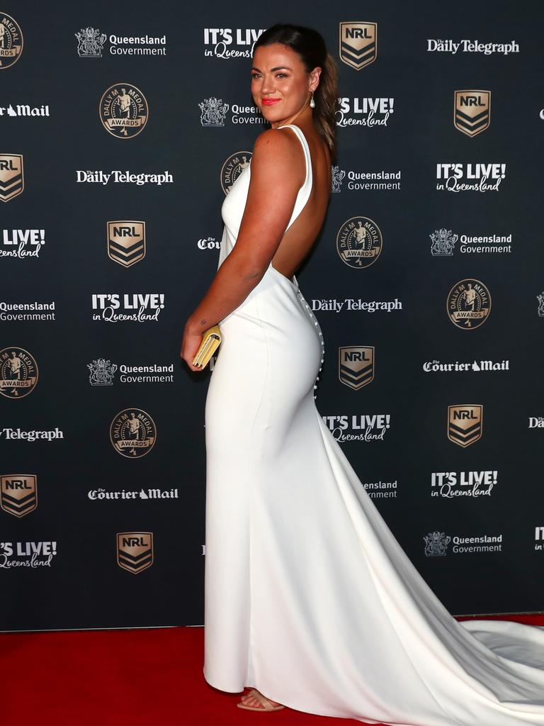 Millie Boyle of the Broncos attends the NRL 2021 Dally M Awards. Photo by Chris Hyde/Getty Images.