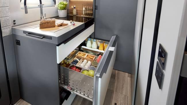 There's also a handy concealed refrigerator drawer.