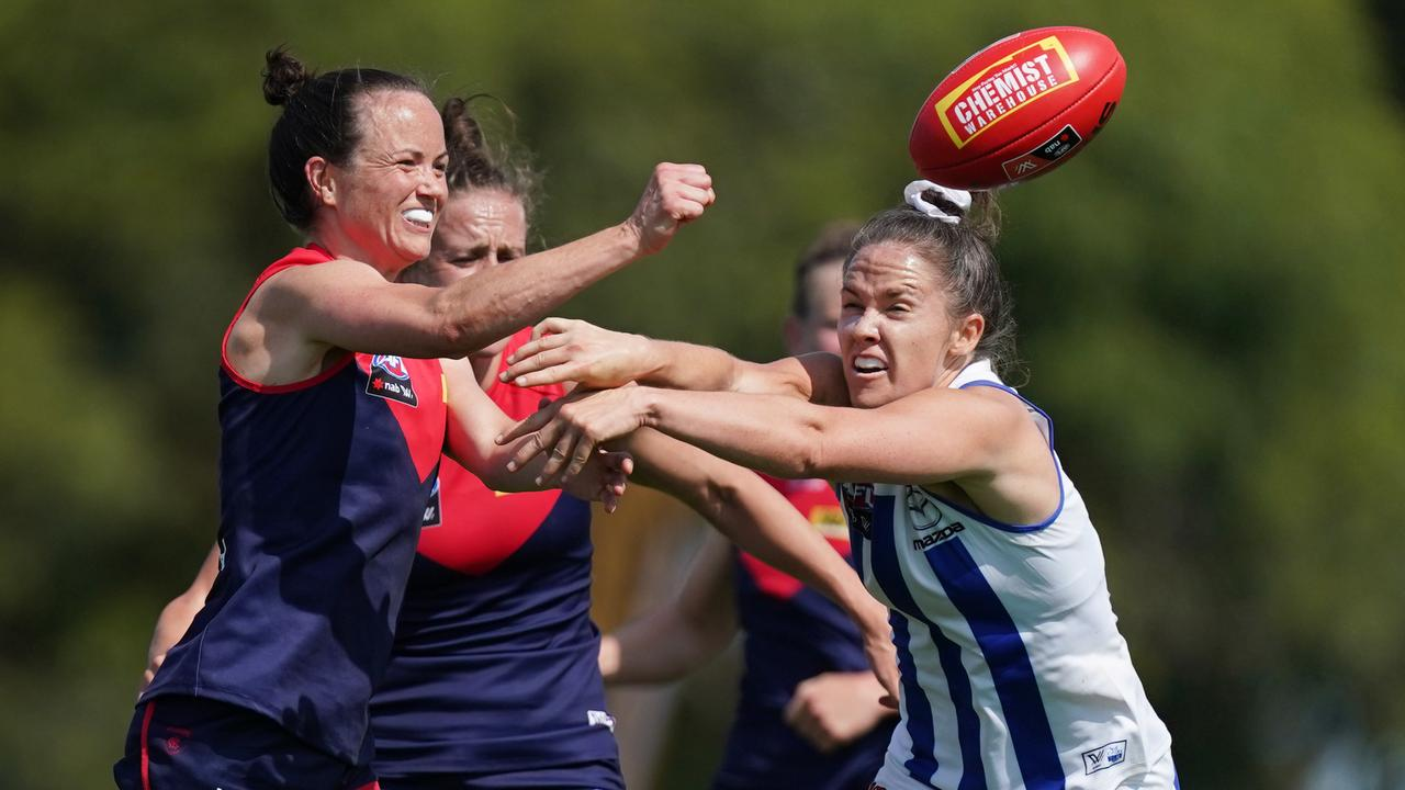 Daisy Pearce's Demons will take on Emma Kearney's Kangaroos. Picture: Michael Dodge