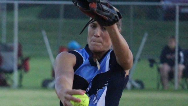Monica Perry pitches SA to a thrilling win against Victoria Titans. Picture: supplied