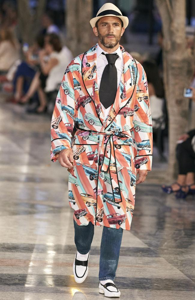 Cuisin': Chanel does dressing gown chic for the Cruise 2016 Cuba collection. Picture: Chanel